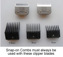 clipper blades & combs